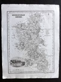 Bell & Fullarton C1835 Antique Map. Buckinghamshire, UK